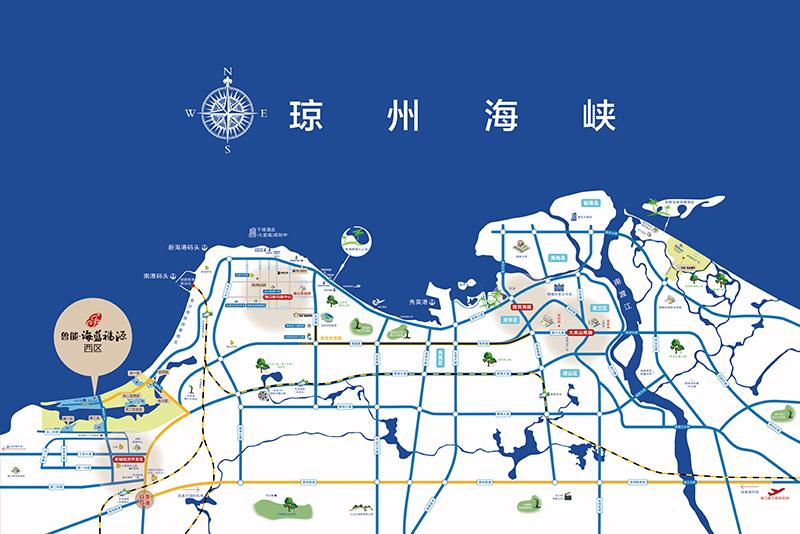 【鲁能・海蓝福源・西区】半岛双湾 临海独院,鲁能海蓝福源