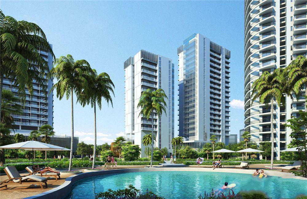 三亚珠江俪豪房源在售,主推建面62-99�O一到两房户型